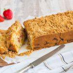 Cake rustique Rhubarbe & Fraise façon streusel