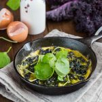 Omelette with Kale & Purslane