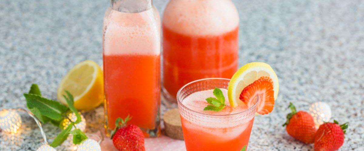 Recette de limonade à la fraise