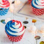 Red Velvet cupcakes Tricolores pour le 14 juillet