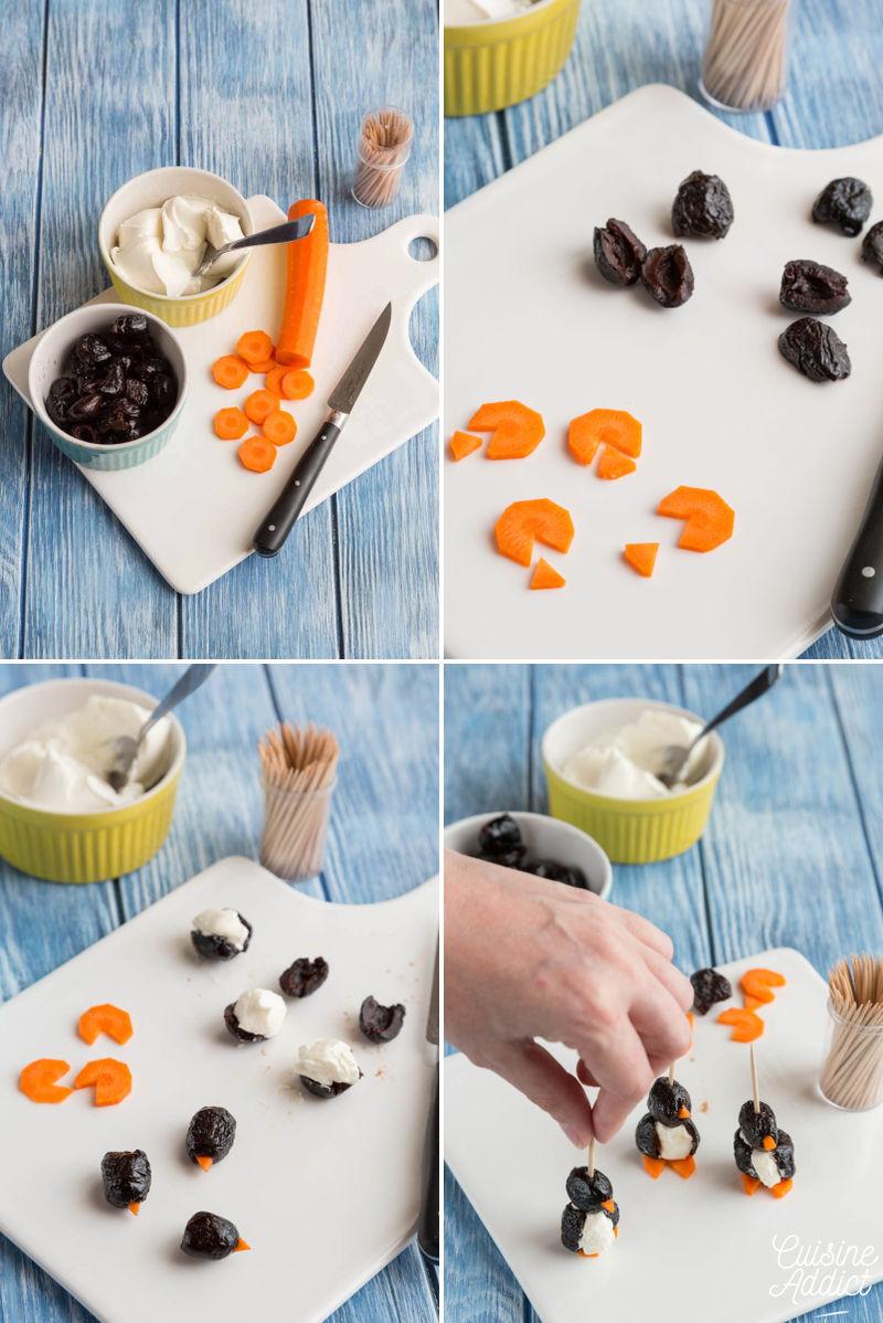 Pas-à-pas pingouins olives