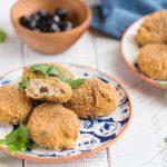 Croquettes de thon à la ricotta et aux olives