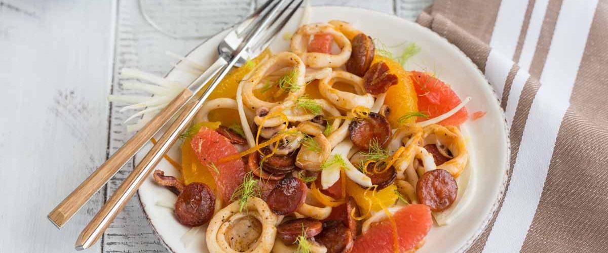 Recette de salade d'encornet au chorizo