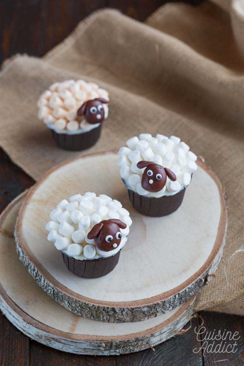 Cupcakes décorés de marshmallow