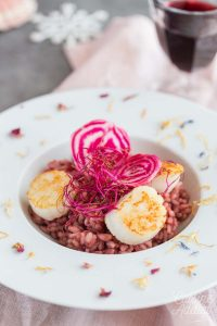 Risotto rose aux St Jacques