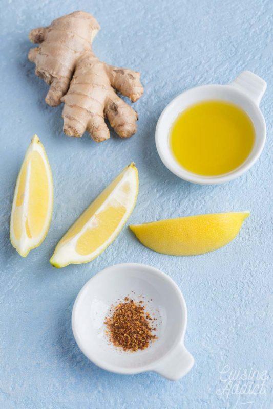 Marinade au citron et au gingembre