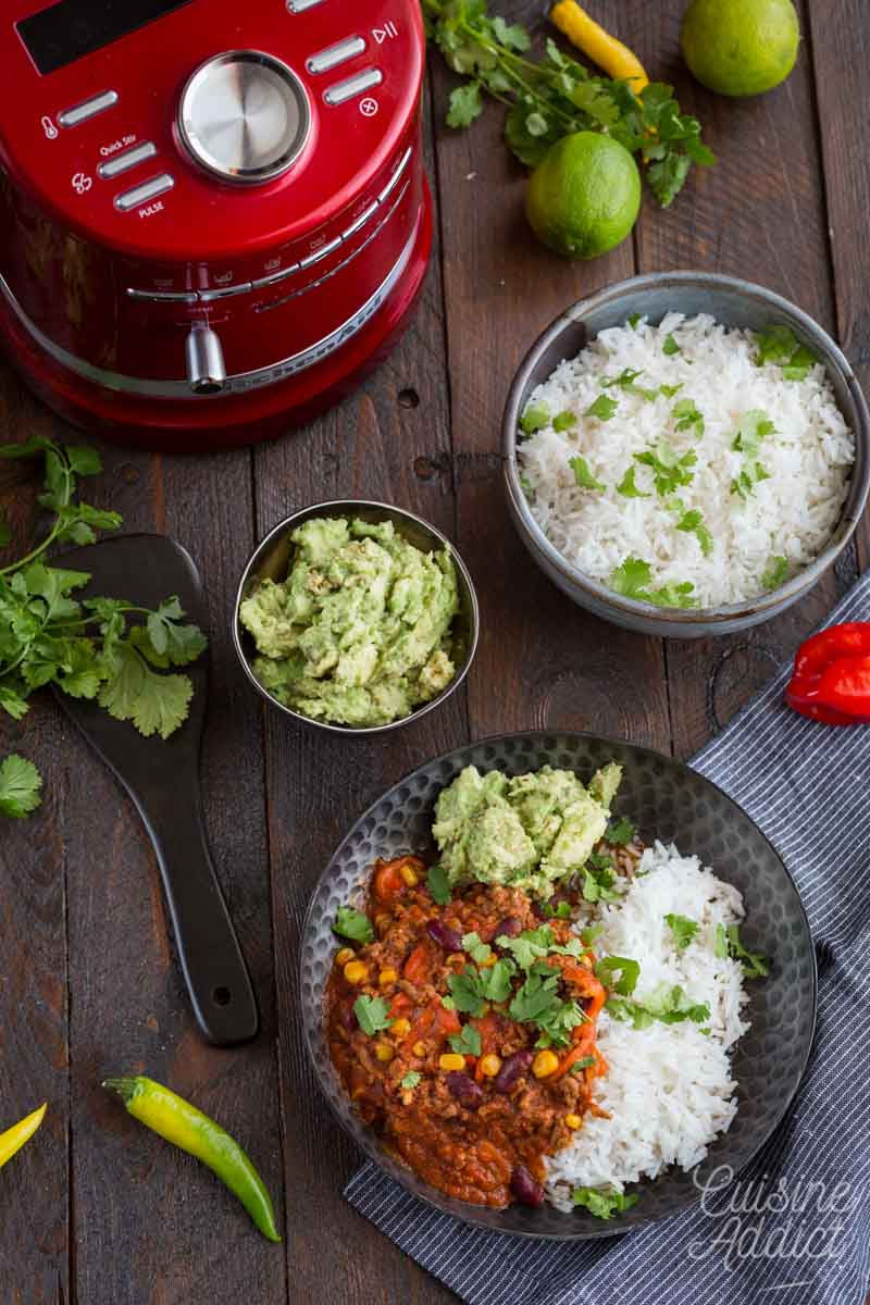 Chili con carne au Cook Processor KitchenAid
