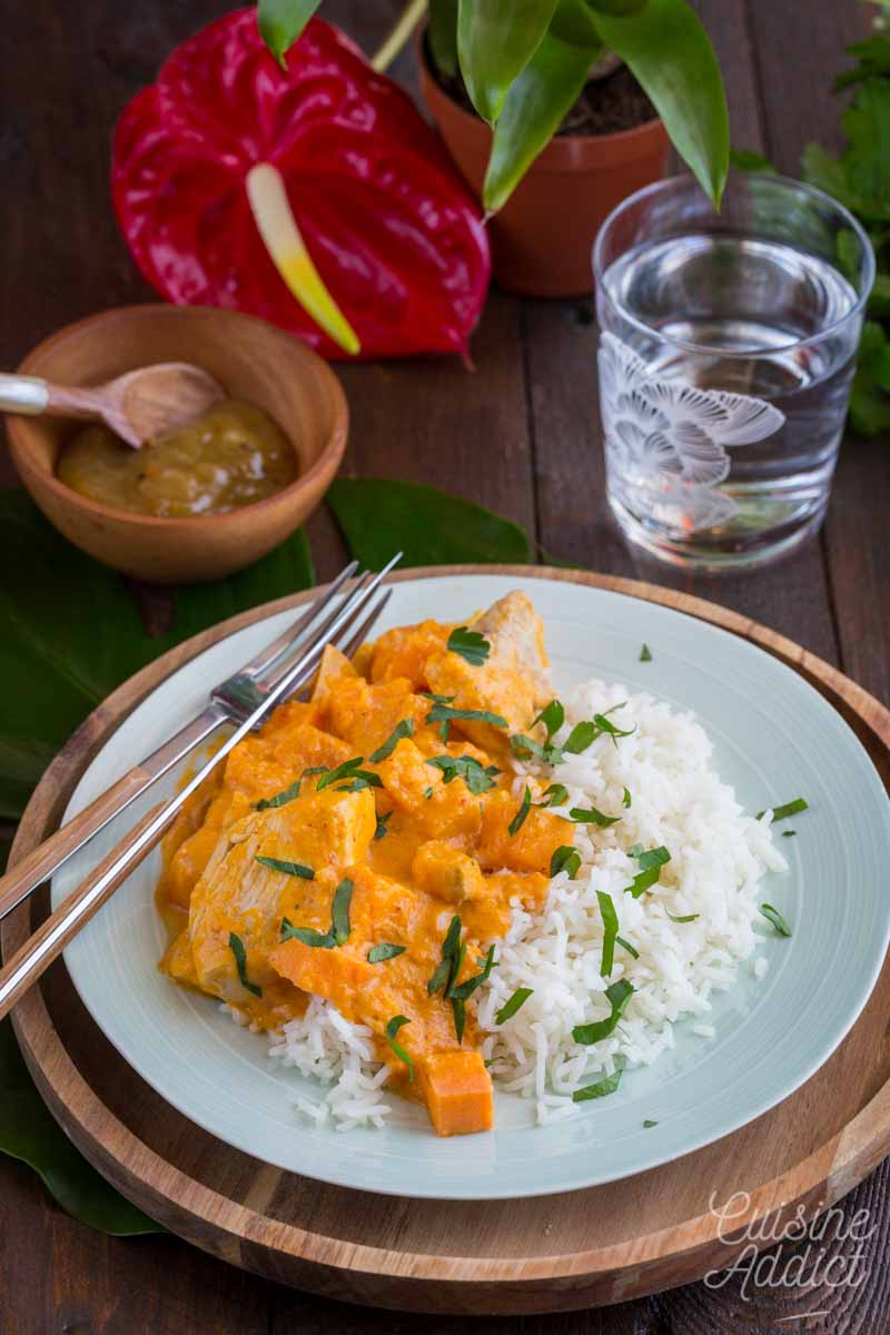 curry thai à la courge et patate douce