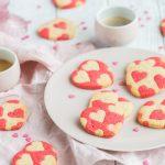 Sablés imprimés coeurs pour la St</br>Valentin