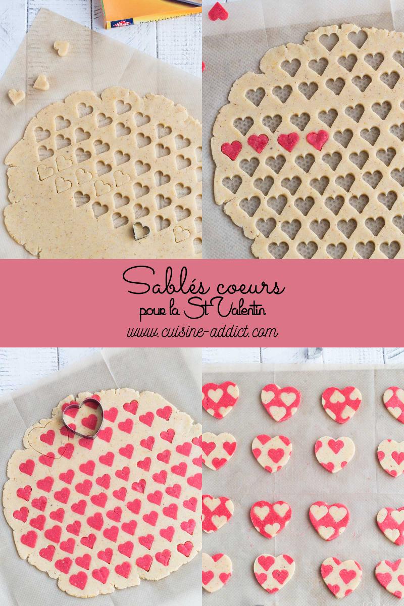 Sablés imprimés coeurs pour la St Valentin