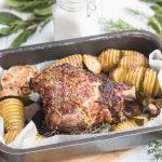 Gigot d'agneau Miel Moutarde & Hasselback potatoes