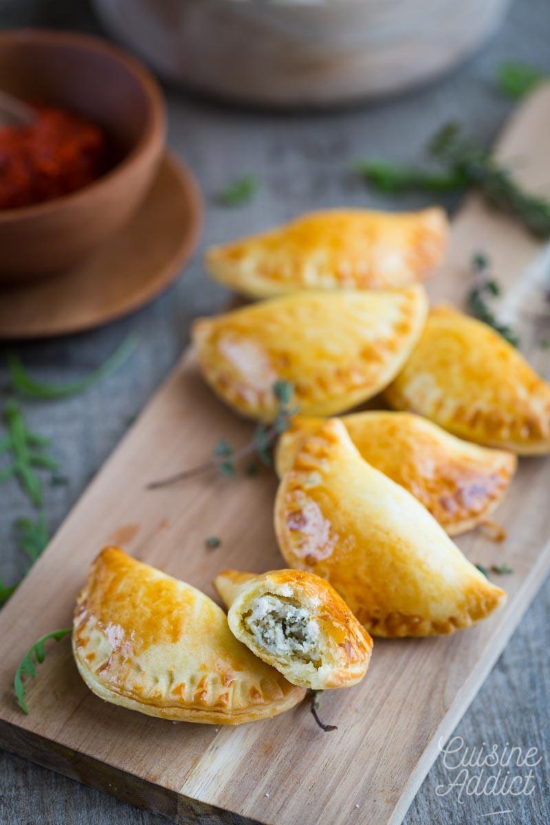 Empanadas au poulet et fromage frais