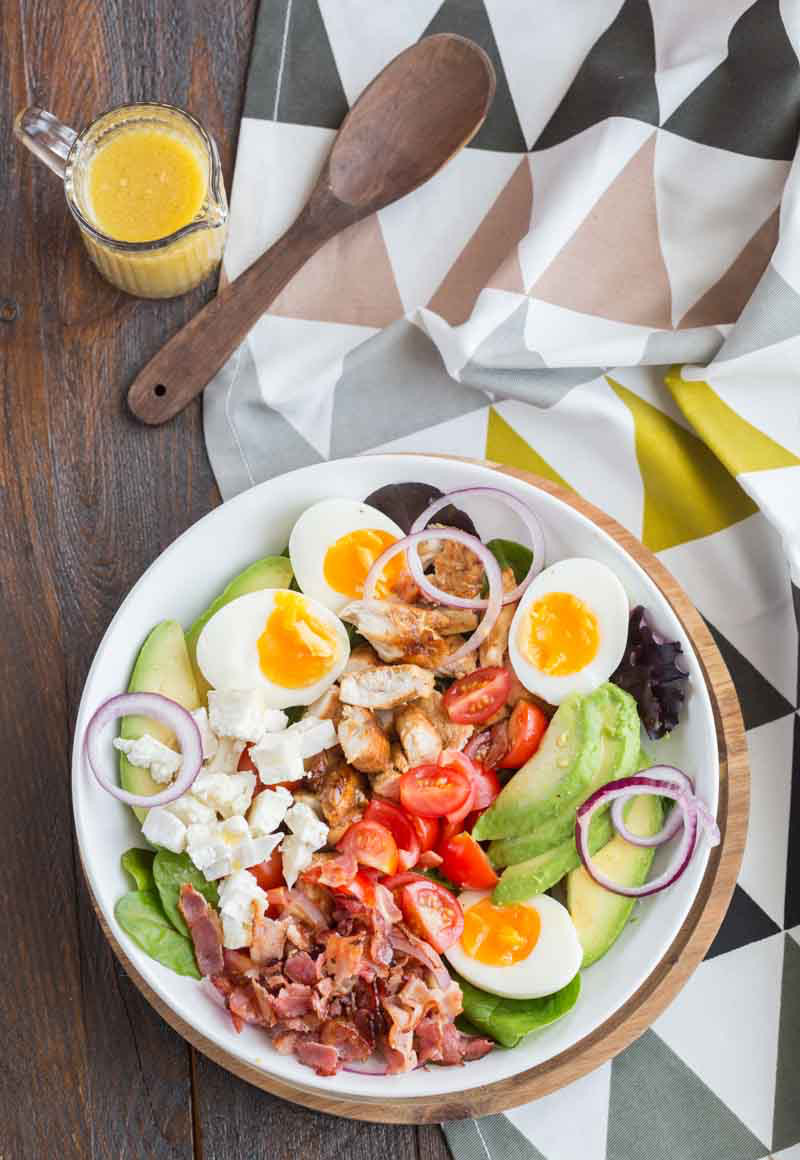 Salade cobb poulet et bacon