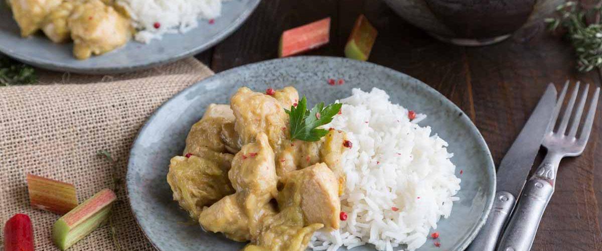 Recette de poulet à la rhubarbe