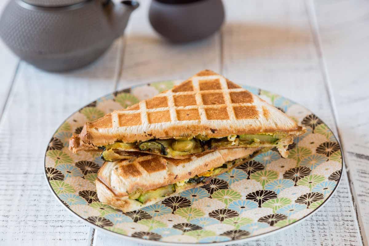 Recette de croque monsieur aux courgettes et omelette