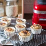 Muffins à la banane et flocons d'avoine au blender {sans farine, sans beurre}