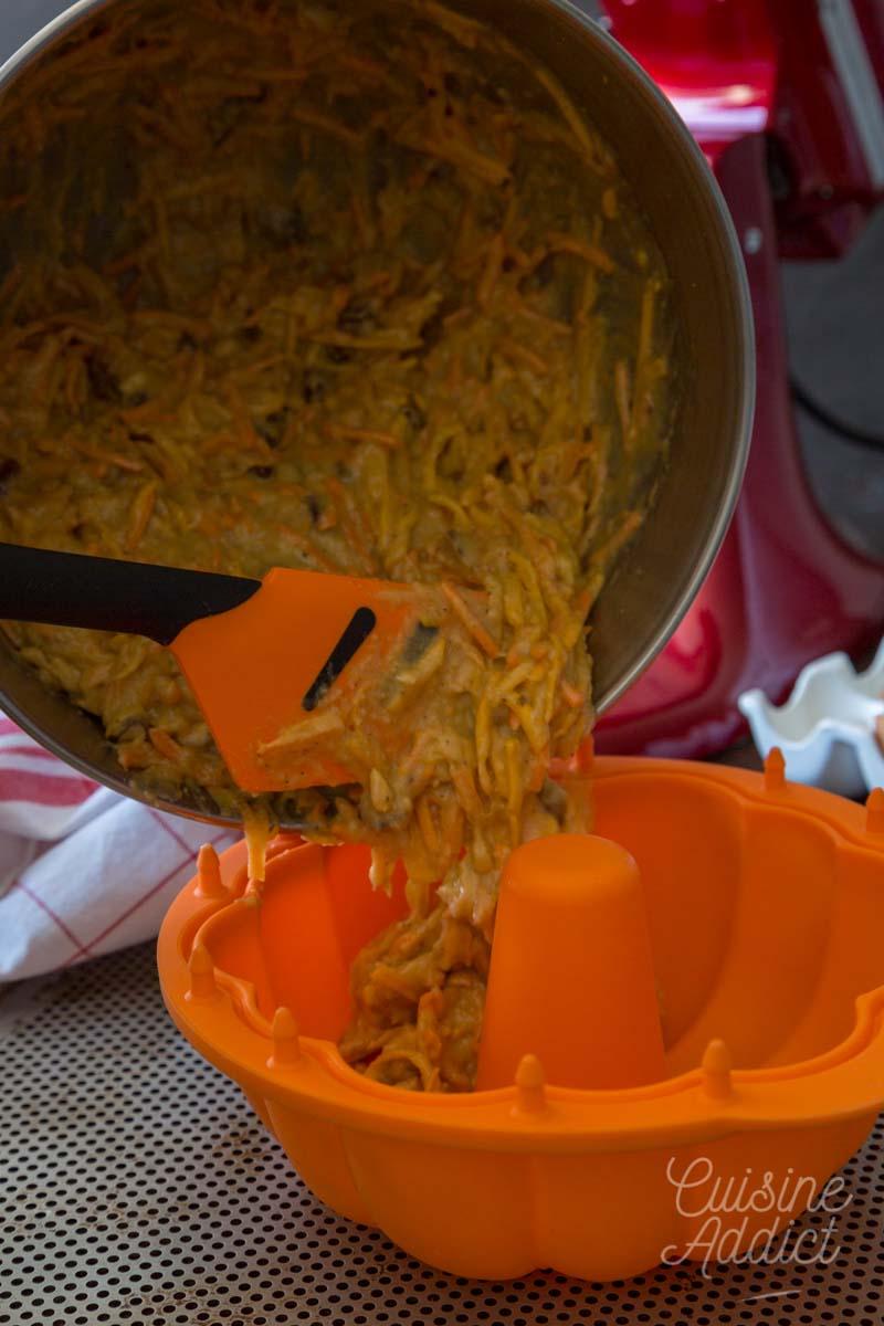Préparation carrot cake