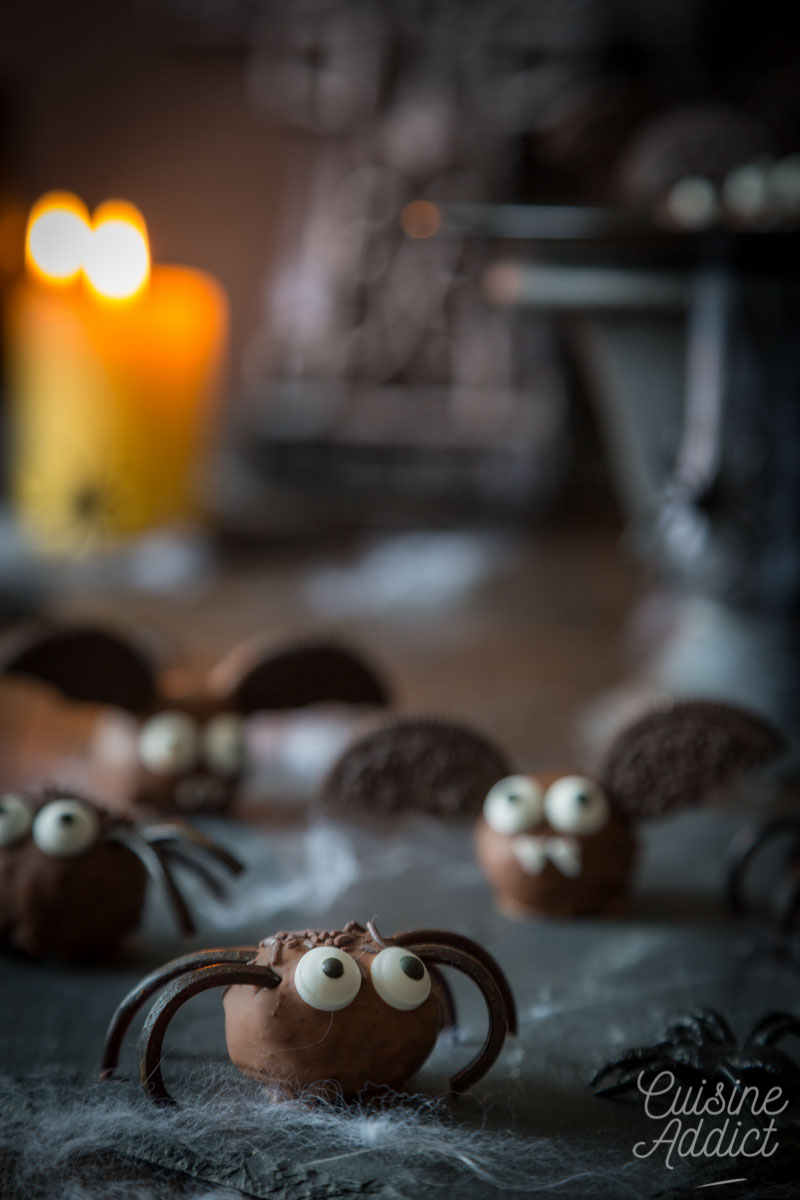 Truffes araignée pour Halloween