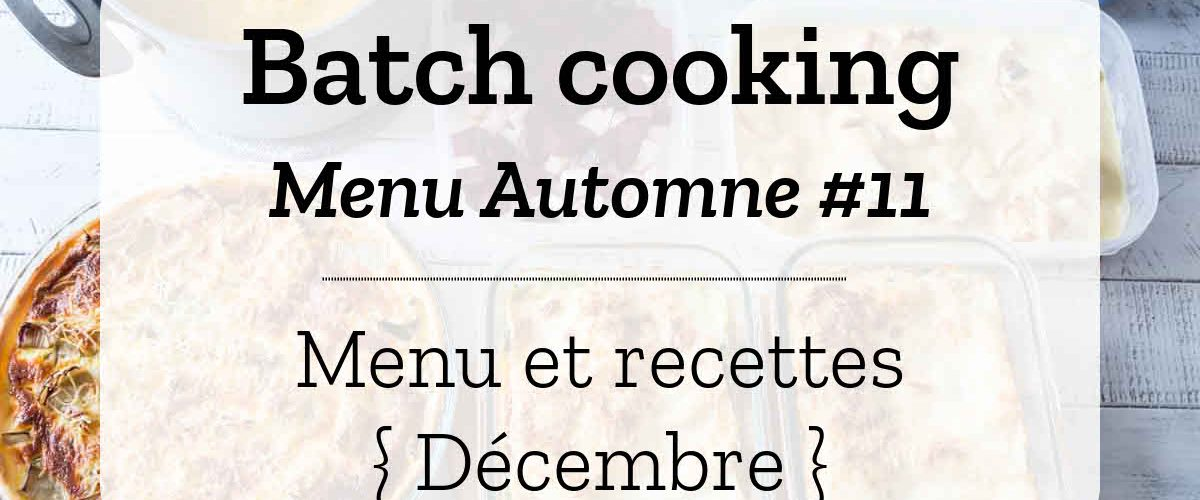 Batch cooking Automne 11