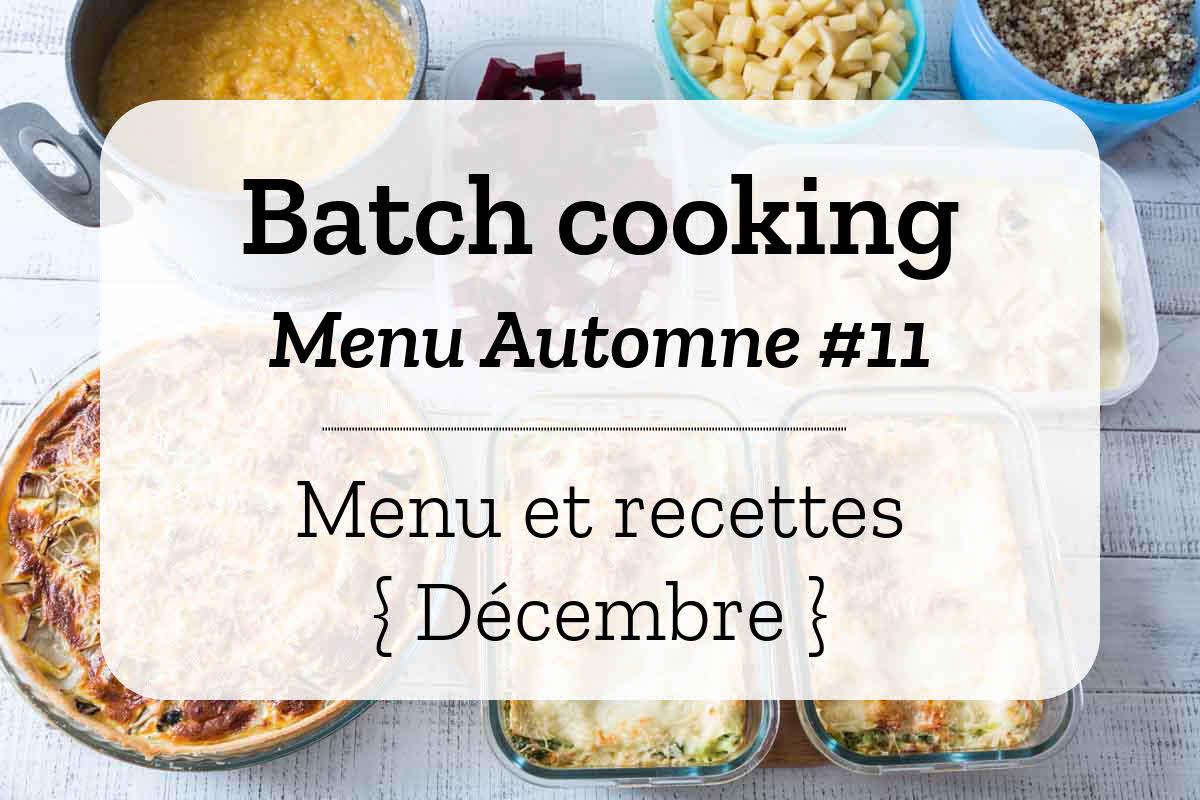Batch cooking Automne 11