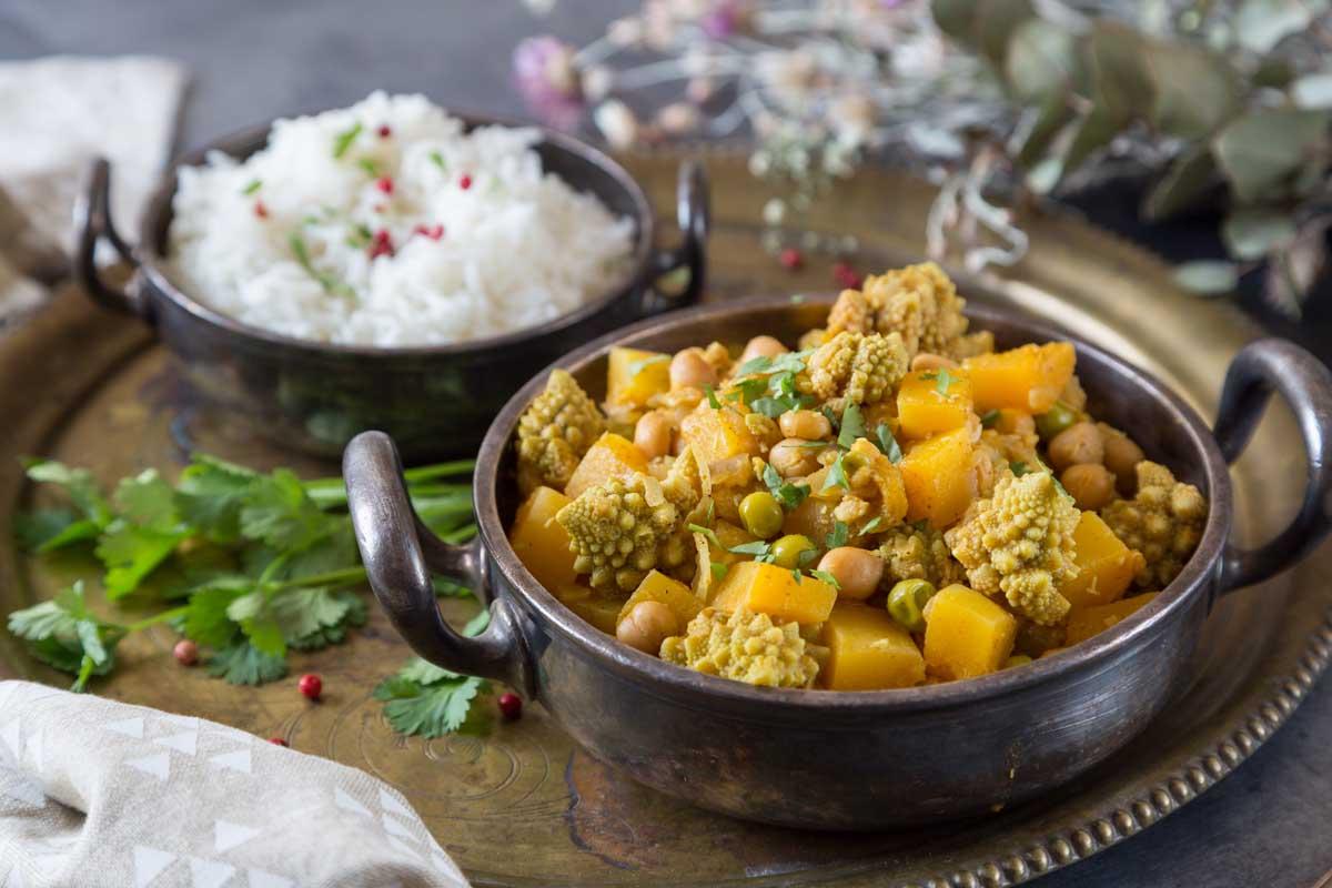 Recette de Curry à la courge butternut et pois chiches