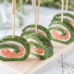 Roulés aux épinards et saumon fumé