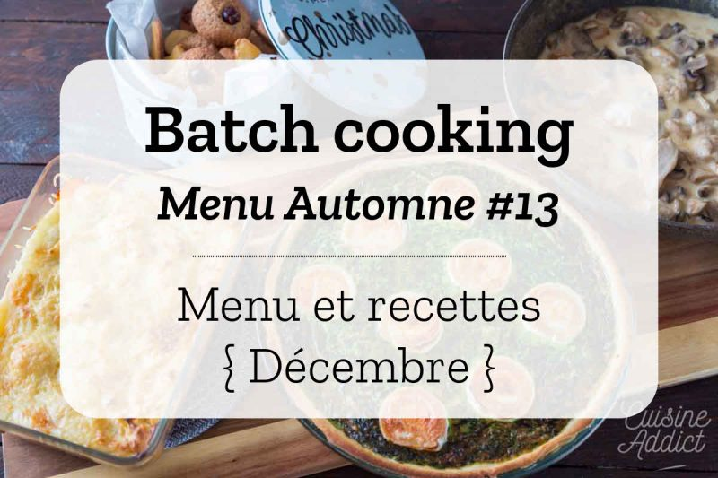 Batch cooking Automne 13