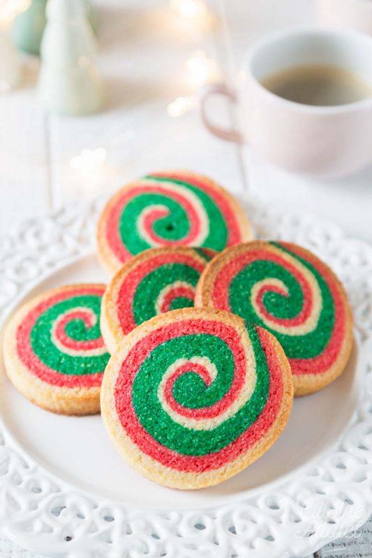Biscuits de Noël en spirale