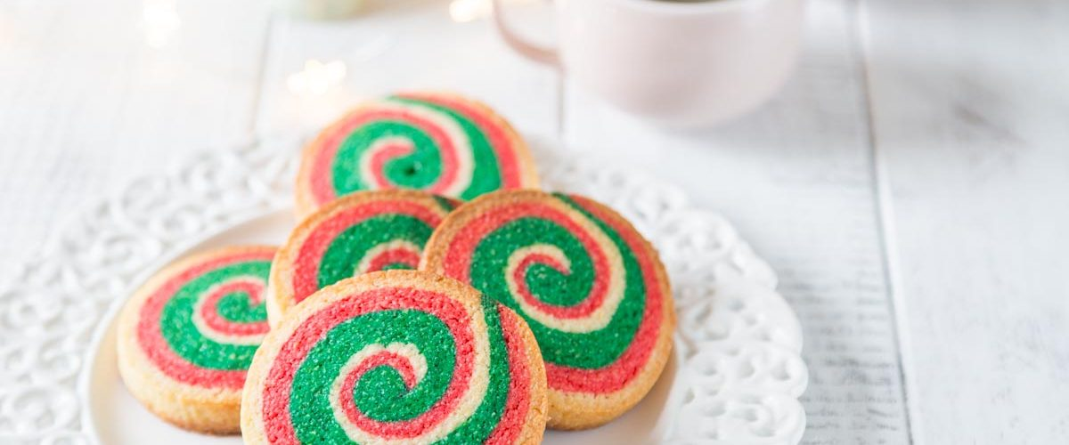 Recette de sablés de Noël en spirale