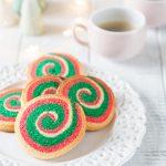 Biscuits de Noël en spirale vert et rouge