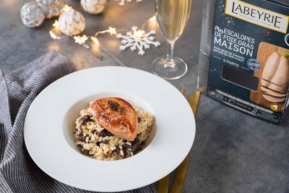 Recette de risotto aux morilles et foie gras