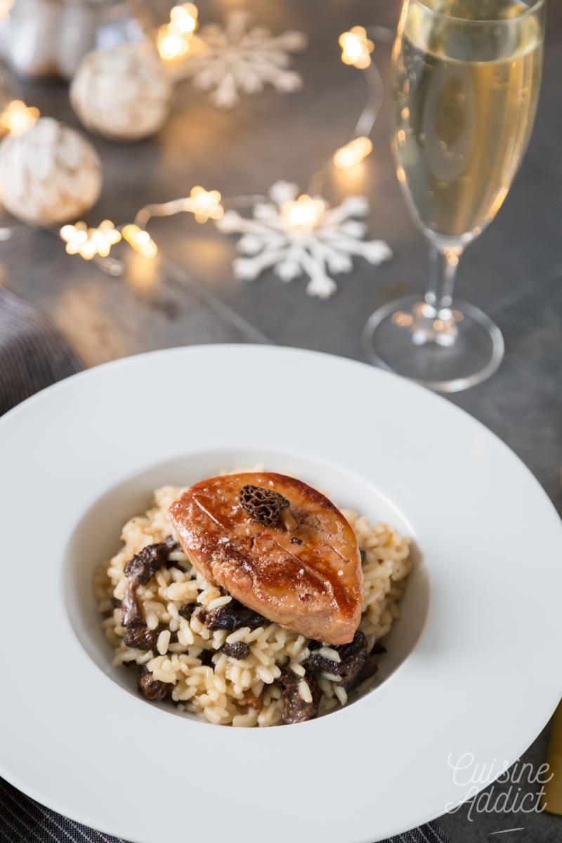 Risotto aux morilles et escalope de foie gras