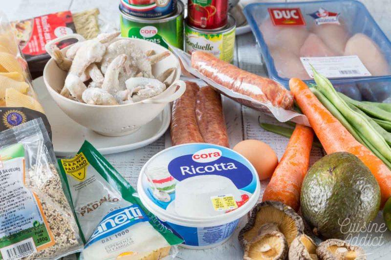 Ingrédients Batch cooking Hiver 6