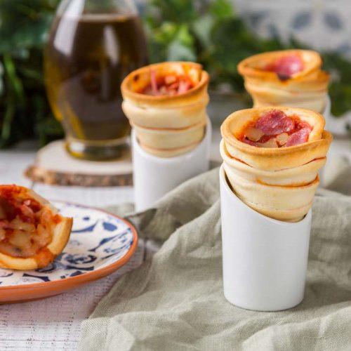 Recette de pizza en cône