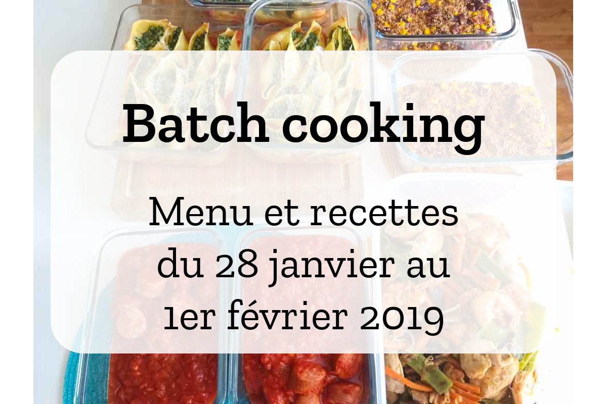 Batch cooking Hiver 6