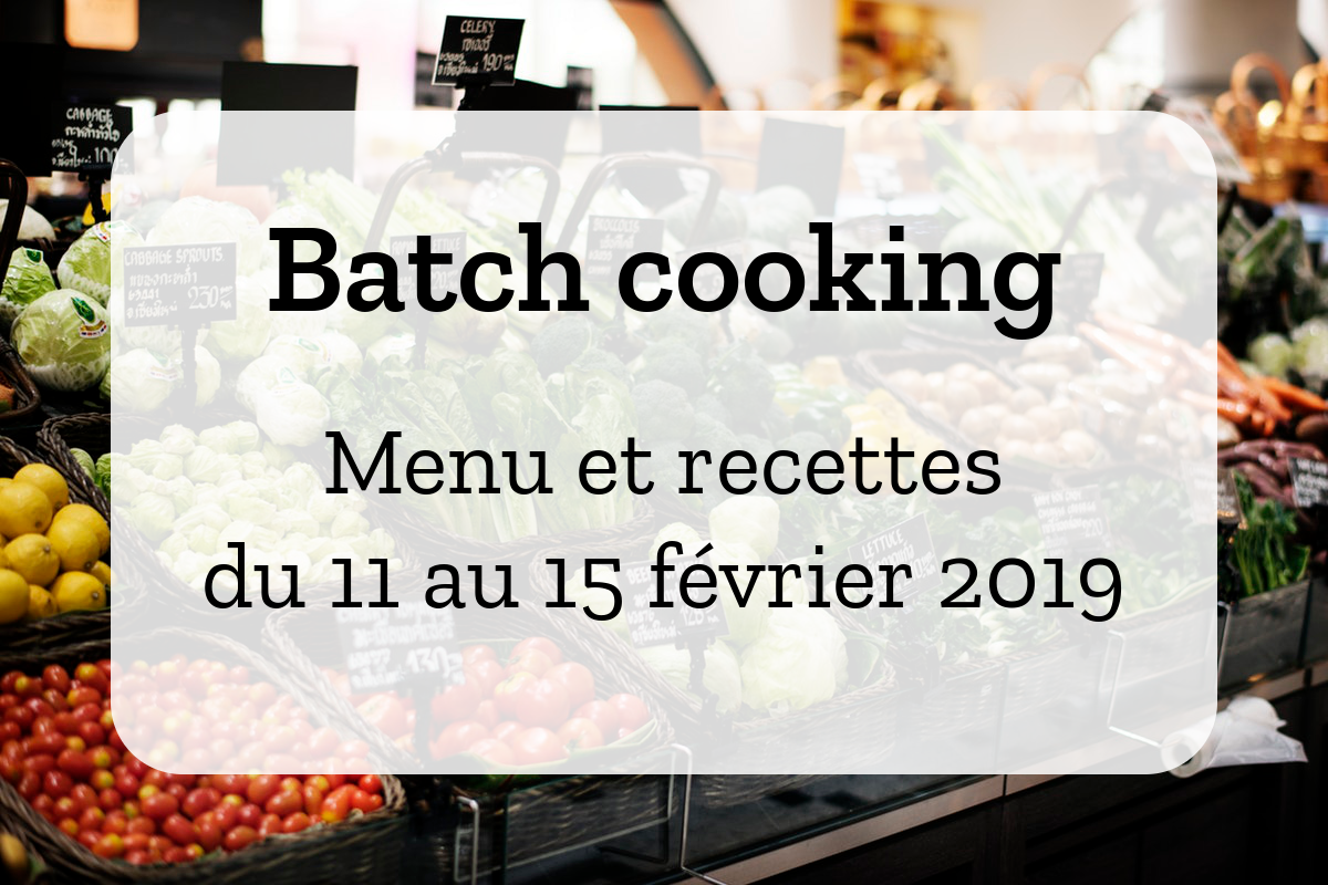 Batch cooking Hiver 8