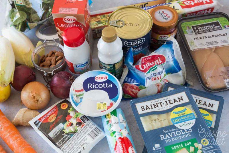 Ingrédients Batch cooking Hiver 10