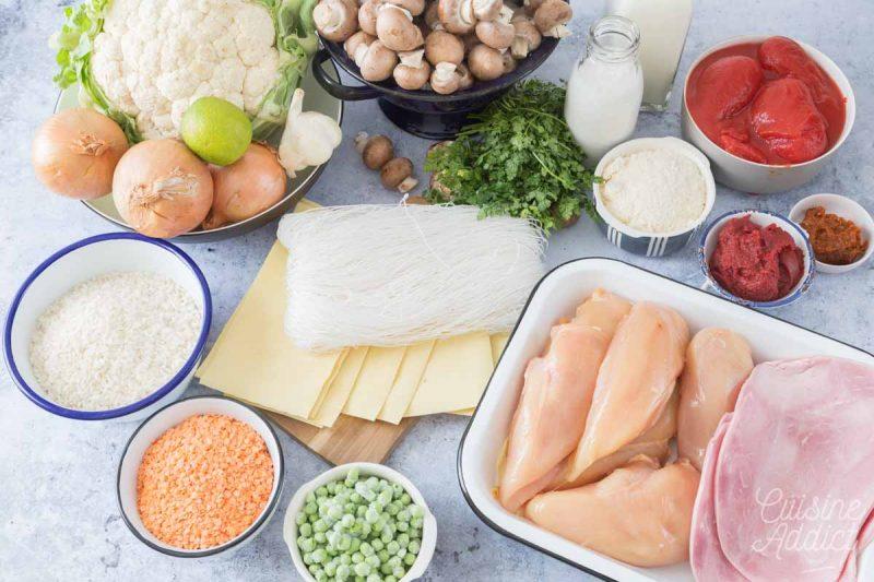 Ingrédients Batch cooking Hiver 11