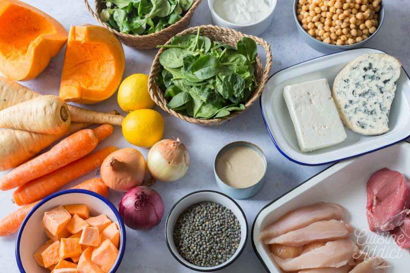 Ingrédients Batch cooking Hiver 12