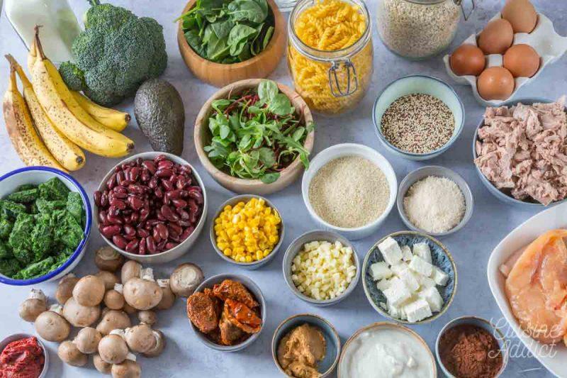Ingrédients Batch cooking Printemps 1