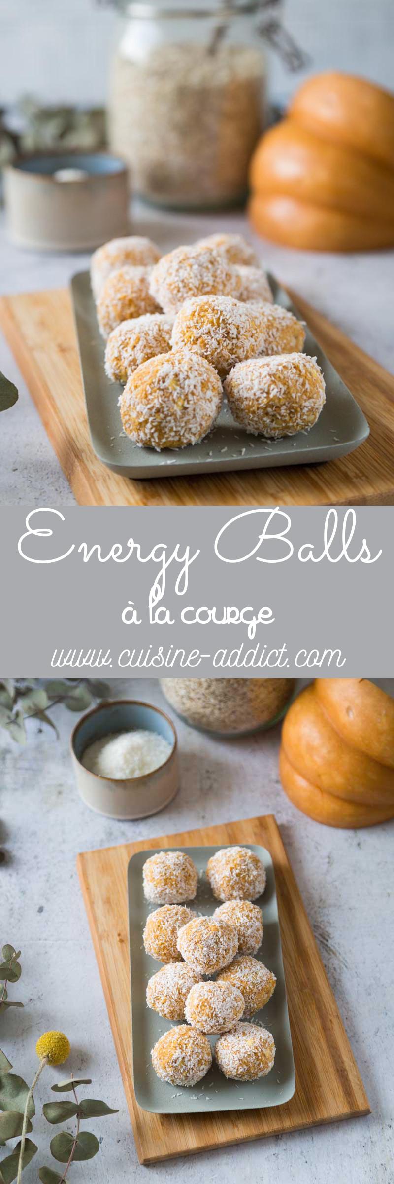 Energy balls à la Courge