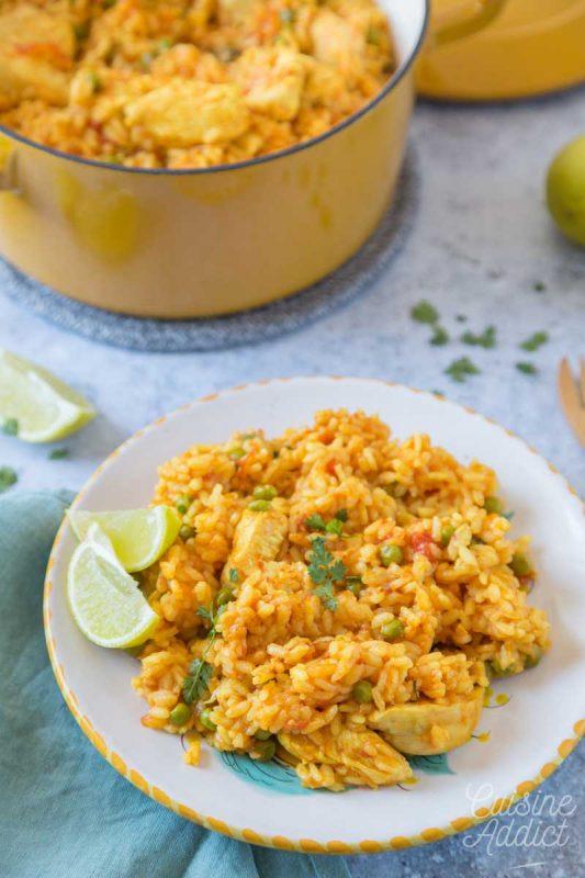 Riz au poulet brésilien