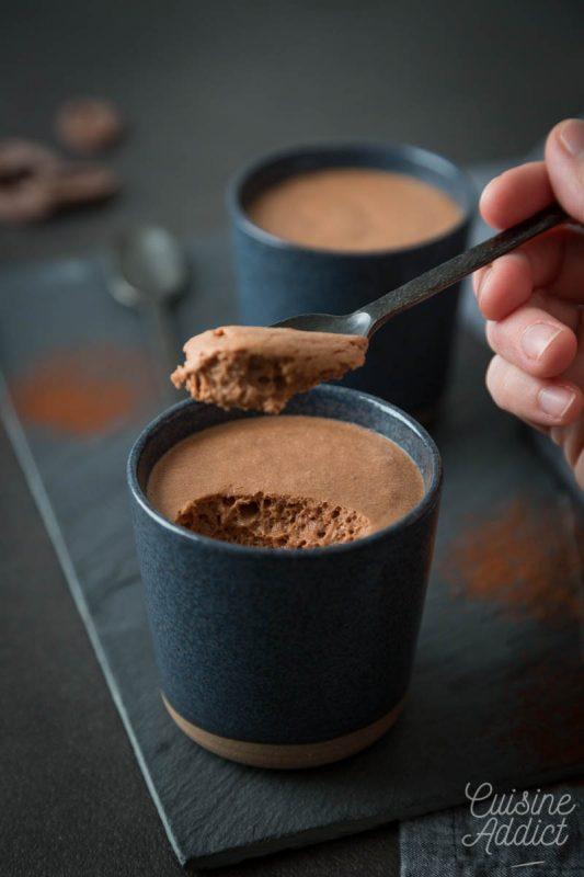 Mousse au chocolat végétarienne