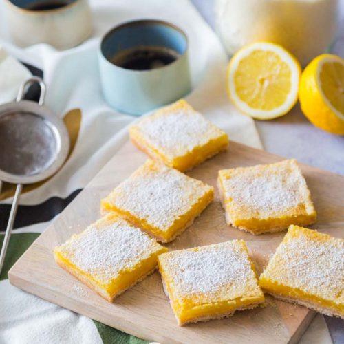 Recette de carrés au citron