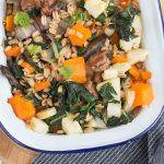 Poêlée de petit épeautre aux légumes d'hiver