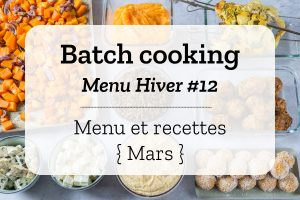 Batch cooking Hiver 12