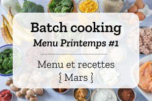 Batch cooking Printemps 1