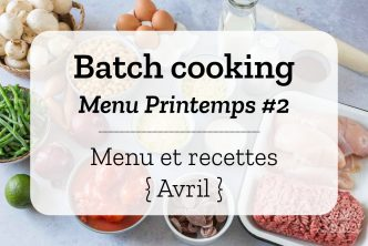 Batch cooking Printemps 2