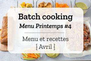 Batch cooking Printemps 4