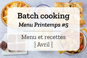 Batch cooking Printemps 5